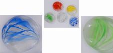 Glasnuggets gemustert 28-30mm