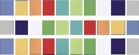 Mosaiksteine nach einzel. Farben