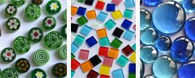 Mosaiksteine nach Mix Farben