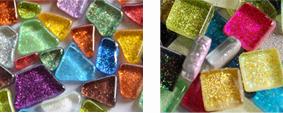 Glitter Soft-Glas Mosaiksteine