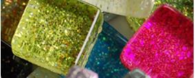 1x1 cm Glitter Mosaiksteine
