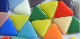 Dreieckige Mosaiksteine 10mm
