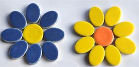 Ovale/ runde Mosaiksteine im Set