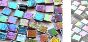 10x10mm irisierende Mosaiksteine