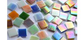 20x20mm irisierende Mosaiksteine