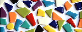 Glas Mosaiksteine unregel. 1-2cm
