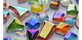 unregelmäßige Glas-Mosaiksteine