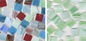 Glas Mosaiksteine marmoriert