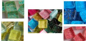 10x10mm glitter Mosaiksteine