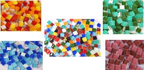 1x1 cm Soft- Glas Mosaiksteine
