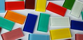 2,5x5 cm Soft-Glas Mosaiksteine