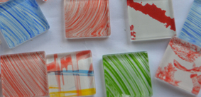 2,5x2,5cm Soft-Glas Mosaiksteine