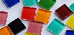 2x2 cm Soft-Glas Mosaiksteine