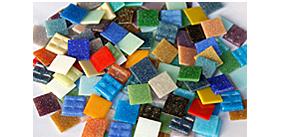 2x2 cm Glas Mosaiksteine