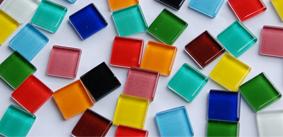 1,5x1,5cm Soft-Glas Mosaiksteine