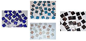 1,5x1,5cm Goldfäden Mosaiksteine
