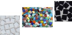 1,5x1,5 cm Mosaiksteine