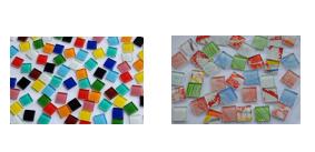 2,5x2,5 cm Mosaiksteine