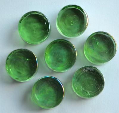 Deko Mosaiksteine irisierend rund 2cm grün 7 St.-ca. 37g