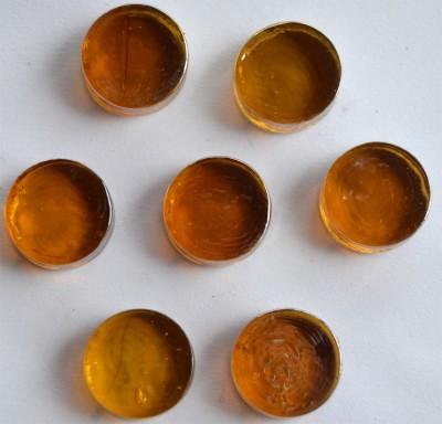 Deko Mosaiksteine irisierend rund 2cm orange 7 St.-ca. 37g
