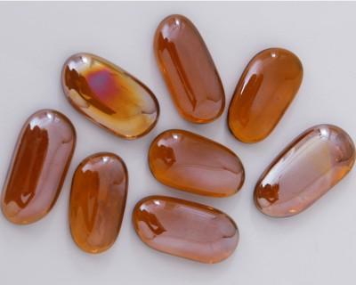 Deko Mosaiksteine irisierend länglich 4-5 cm rost 8 St.-ca. 95g