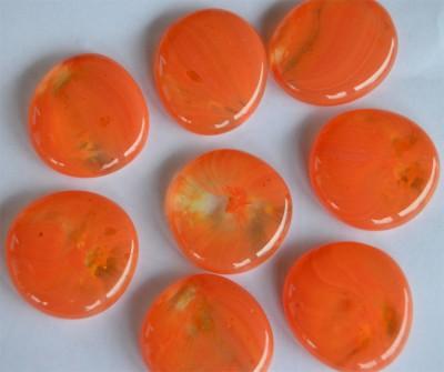 Deko Glas Pebbles gemustert 4-5 cm orange 4 St.- ca. 70g