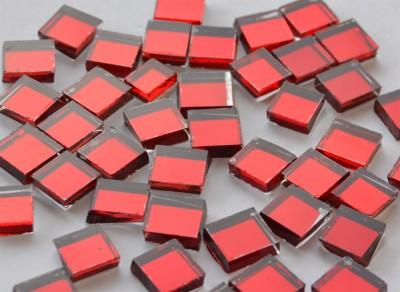 Spiegel Mosaiksteine rot 1x1cm 125g. ca. 170 Stück