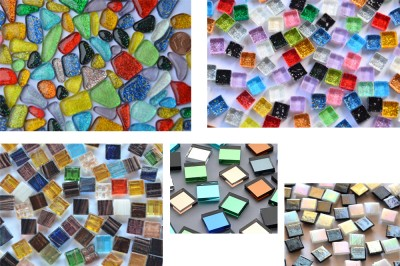 Mosaiksteine Bastelmix1 aus 5versch. Artikeln 240g ca. 290St.