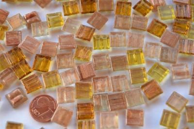 Mini Mosaik mit Flimmer Goldmix 1x1 cm 300 St.- ca.204g