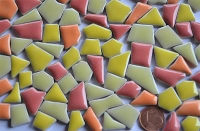 Mini Bruchmosaik 5-20mm aus Keramik Rotmix 100g ca.90St.