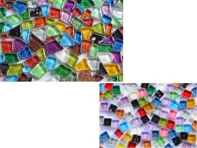 Mosaiksteine Bastelmix Glitzer-Softglas 135g ca. 130 St.