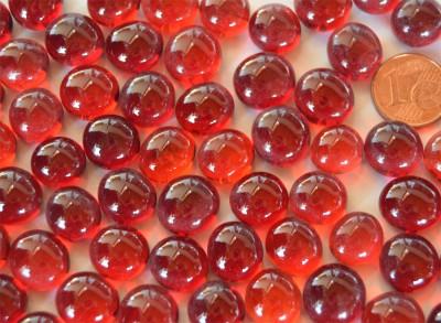 Deko Mosaiksteine Glasnuggets 10-12mm rot 70g ca.50St.