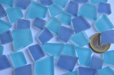 Mosaiksteine unregelm. Frost Blaumix 100g ca. 40St.
