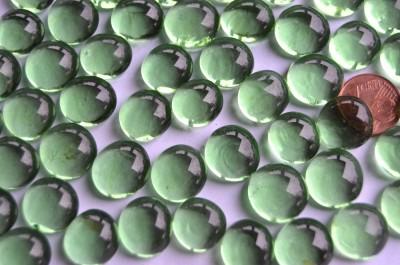 Glasnuggets Deko Mosaiksteine 13-15mm grün 100g ca. 35 Stück