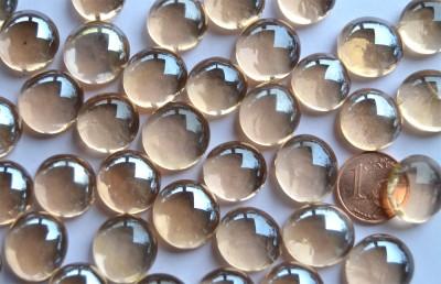 Glasnuggets Deko Mosaiksteine 13-15mm rosa 100g ca. 35 Stück