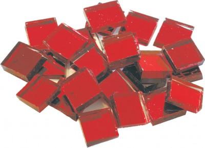 Spiegel Mosaiksteine rot 2x2cm 125g. ca. 40 Stück