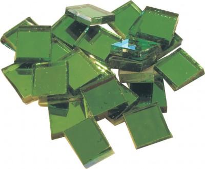 Spiegelmosaik grün 2x2cm 125g. ca. 40 Stück