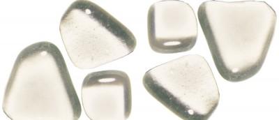 Soft- Glas Mosaiksteine unregelmäßig transparent 200g ca.130St.