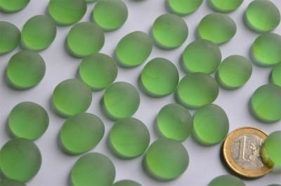 Glasnuggets Frost 15-19mm Deko Mosaiksteine grün 100g ca. 20St.