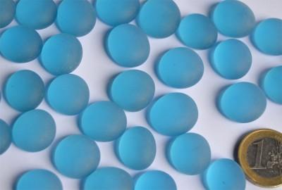Glasnuggets Frost 15-19mm Deko Mosaiksteine blau 100g ca. 20St.