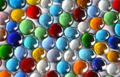 Deko Mosaiksteine Glasnuggets transp. 15-21mm bunt 500g ca120St