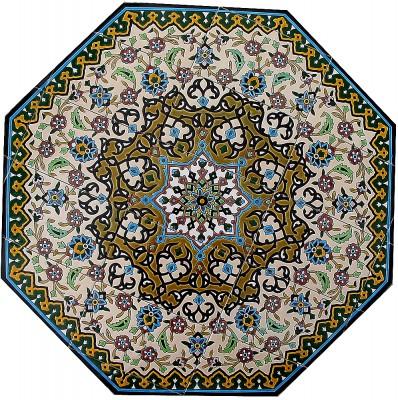 Orientalische Fliesen Durchmesser ca. 86 cm 8 eckig-Jahan