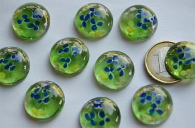 Deko Mosaiksteine Glasnuggets 19-21mm Blüte Nr.4, 1 St. ca. 4g