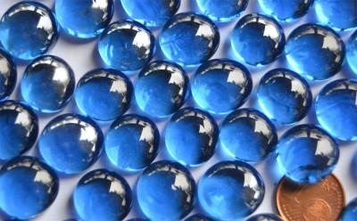 Glasnuggets 13-15mm kobaltblau transparent 100g ca. 35St.
