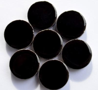 Keramik Mosaiksteine rund glanzend 17-18 mm schwarz 10 St.- 20g