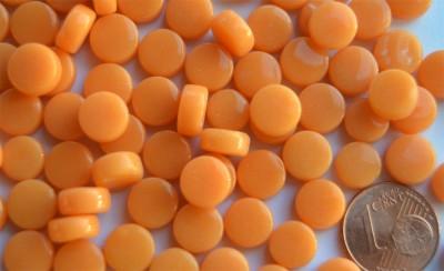 Mini Mosaiksteine glänzend rund 8mm orange 100 St.-ca. 40g