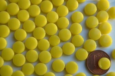 Mini Mosaiksteine glänzend rund 8mm gelb 100 St.-ca. 40g
