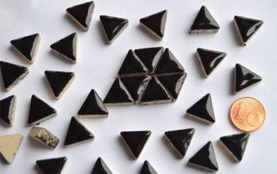 Mosaiksteine dreieckig Seitenlänge ca.14mm schwarz 50g ca.50 St.