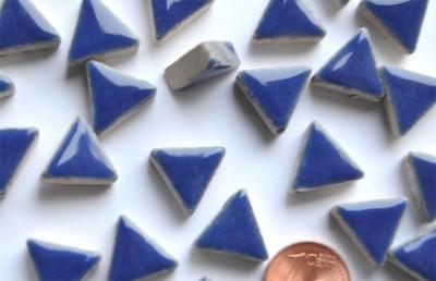 Mosaiksteine dreieckig Seitenlänge ca. 14mm blau 50g ca.50 St.