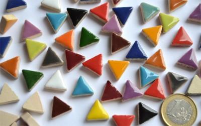 Mosaiksteine dreieckig Seitenlänge ca. 14 mm bunt 50g ca.50 St.